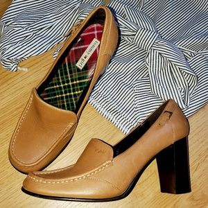 Tommy Girl - Tan Leather Loafer-Style Pump Heels